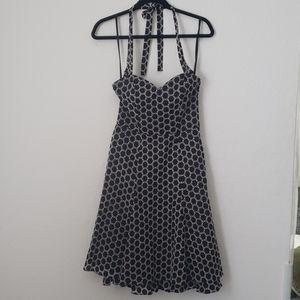 Nine West Black and white Polka-dot Dress size 2